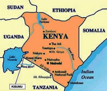 Kenya Map - Kenya map