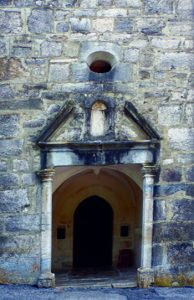 Ruffieu, showing the small window above the door, through which Fr Humbert spoke to the crowd outside