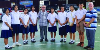 Wat Siri Students with Br Jose and Br Paul Murphy FMS