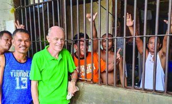 Fr Pat Muckian SM at Digos Prison