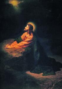 Christ in Gethsemane, Heinrich Hofmann, 1886